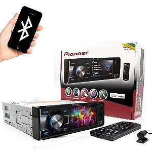 "DVD Pioneer DVH-8880AVBT 1 din 3,5"" USB AUX com Bluetooth"