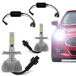 Kit Super Led 2D 6000k 4400 Lúmens 12/24V H1, H3, H4, H7, H11, H27, Hb3 9005, Hb4 9006