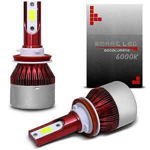 Kit Smart Led 8000 lúmens a prova d'água Efeito Xenon 6000k H1, H3, H4, H7, H11, H27, Hb3 9005, Hb4 9006, H13, H16