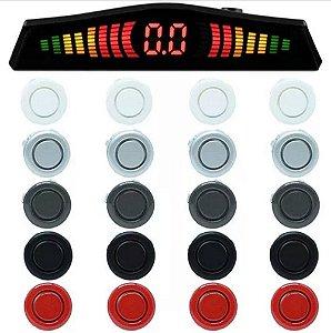 Kit Sensor de Ré (sensor de estacionamento) 4 pontos com display