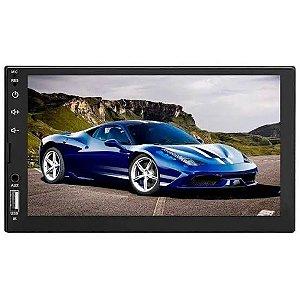 Central Multimídia Taytech Mp8 Plus Espelhamento Bluetooth USB SD AUX FM e controle remoto