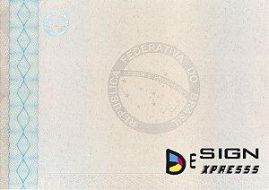 Papel Moeda A4 Certificado  ( Modelo 03 ) _10Unid