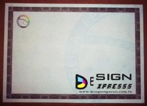 Papel Moeda A4  Certificado  ( Modelo 01 ) _10Unid