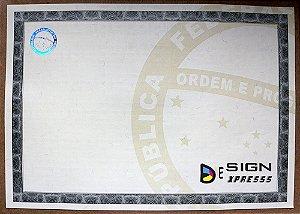 Papel Moeda para Certificado ( Modelo 02 ) _10Unid