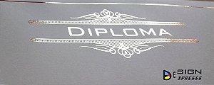 Certificado Diploma Bordas Dourada ou Prata  (Modelo 03)