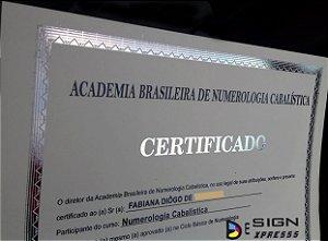 Certificado Diploma com Impressão em Hot Stamping  (Modelo 02)