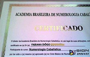 Certificado Diploma com Impressão em Hot Stamping  (Modelo 03)