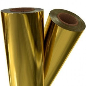 Fita Hot Stamping Dourada 20 cm X 5 metros - SEM Tubete