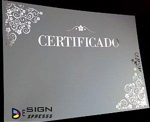 Certificado Diploma Bordas Dourada ou Prata  (Modelo 08)