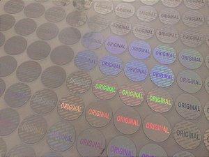 Selo Holográfico Original Prata 15mm - Mod. 02