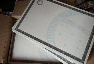 Papel Moeda A4  Certificado  ( Modelo 01 ) _15Unid
