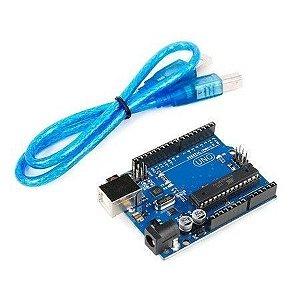 Placa UNO R3 com cabo usb, Arduino