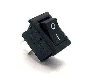 Botão liga/desliga quadrado preto- Chave Gangorra