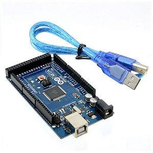 Placa MEGA 2560 R3 + Cabo USB, Arduino