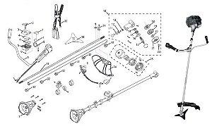Peças Reposição Roçadeira Combustão Tramontina RC33MTD R43MTD