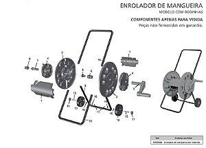 Peças de Reposição Enrolador de Mangueira com Rodas Tramontina