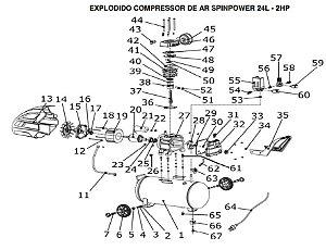 Peças De Reposição Compressor Vulcan Sp1500