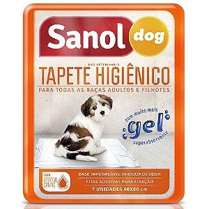 Tapetes Higiênicos Para Cachorro Sanol Dog Com 7 Un.