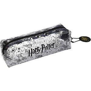 Estojo Escolar Medio Harry Potter Transparente Simples Dac