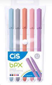 Caneta Esferográfica BPX 5 cores