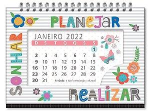 Calendário de mesa Frases coloridas