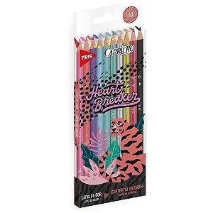 Lápis de Cor Capricho 10 Cores Tris