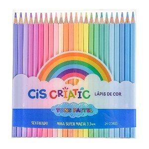 Lápis de Cor Criatic Tons Pastel 24 Cores Cis