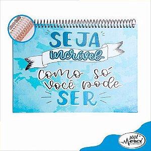Caderno Lettering Partners Pontilhado Merci Azul