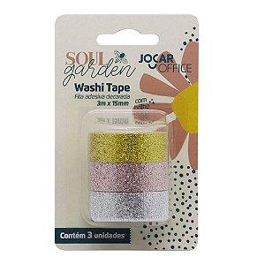 Fita Washi Tape Soul Garden Brilho