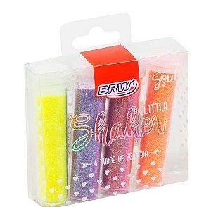 Glitter shaker neon 7g - blister c/ 4 cores