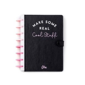 Caderno A5 Cool  Stuff Black (Pink) Oba