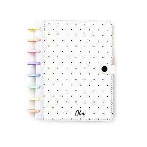 Caderno A5 Dots White (Rainbow Pastel) Oba