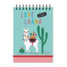 Caderno de ideias Lhama fina ideia