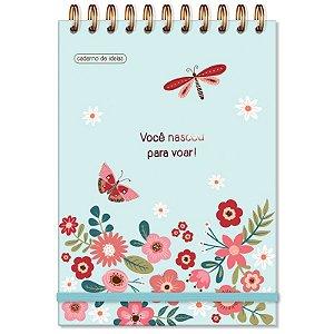 Caderno Ideias Borboletas Fina Ideia