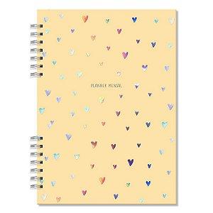 Planner Mensal Corações Fina Ideia