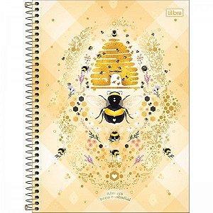 Caderno Universitário 1 Matéria Honey Bee Tilibra Unidade