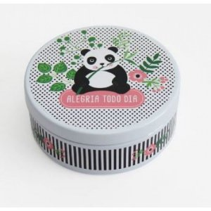 Lata Redonda Panda Fina Ideia