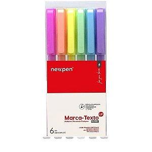 Caneta Marca Texto Up Pastel 6 Cores - Newpen