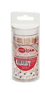 Washi Tape Love 15mmx5m Tons Rose