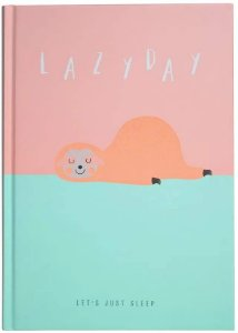 Caderno A5 Capa Dura Bicho Preguiça Lazy Day