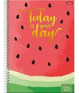 Caderno Fruit Lovers  Melancia 10 Matérias 200 folhas  Foroni