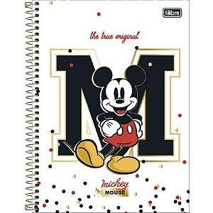 Caderno Espiral Capa Dura Universitário 1 Matéria Mickey 80 Folhas