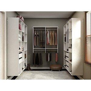 Closet Completo - Com Prateleiras, Gaveteiros, Nichos e Cabideiros - Supercloset