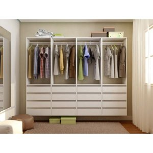 Closet Completo - Com 04 Cabideiro e 16 Gavetas - Supercloset
