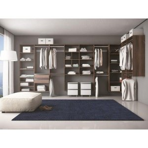 Closet Completo - Em L Com 09 Cabideiros, 04 gavetas e prateleiras - Supercloset