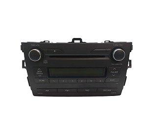 Radio CD Player Toyota Corolla 2010/2014 Original 8612002E080
