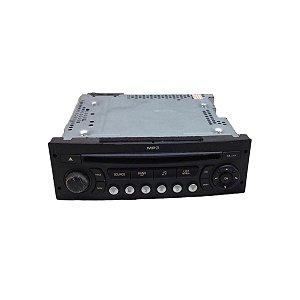Rádio Som CD Player Mp3 Peugeot 307 2006 96665700XT