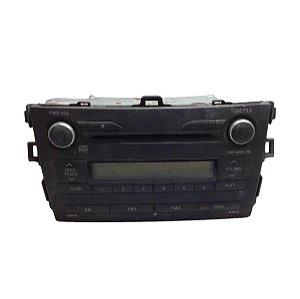 Rádio CD Som Toyota Corolla SC740 2010 8612002840