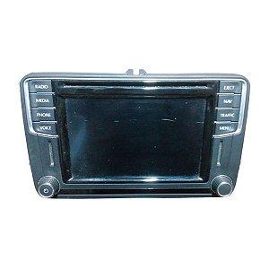 Rádio CD Display VW Beetle Caddy Tiguan Golf CC 5C0035680BX