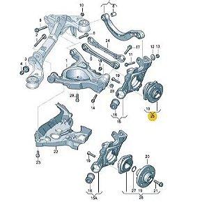Rolamento de Roda Traseira Audi A6  4F0598611B
